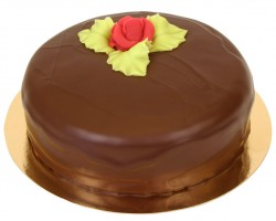 Hallonchokladtårta