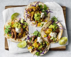 Jamaican jerk tacos